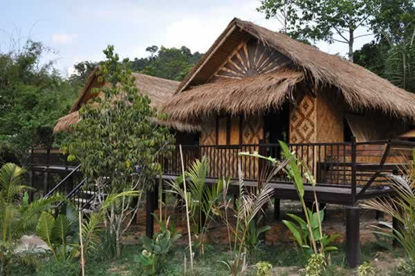 Bamboo Cottage - Wareerak Hot Spring Resort & Sap