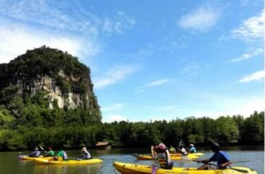 Kayaking at Krabis Hong Island