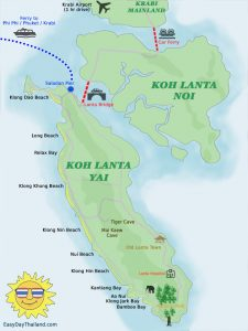 Map of Koh Lanta Thailand