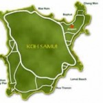 Map of Koh Samui