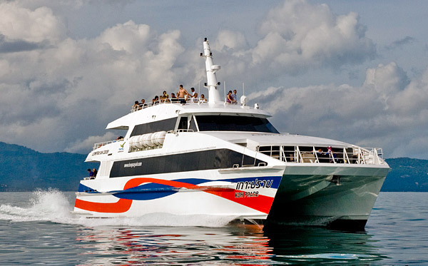 from Krabi - Koh Samui with Lomprayah Ferry and bus.