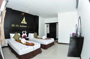 Phi Phi Andaman Legacy Standard bungalows twin beds