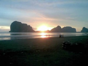Trang - Sunset in Pak Meng Beach