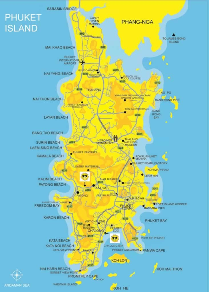 Map of Phuket Easy Day Thailand Tours Travel
