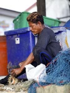Chao Ley Fishing Man - Thailand Sea Gypsies at Rawai Beach, Phuket Island