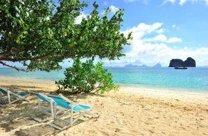 Sun Chairs on Koh Ngai Island in Krabi, Thailand