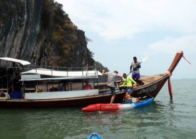 Koh Talabeng Kayaking Tour by Long Tail Boat
