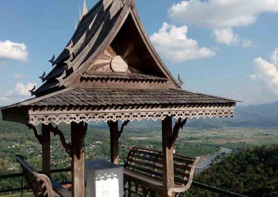 chiang mai, mae ai - wat thaton pavillion