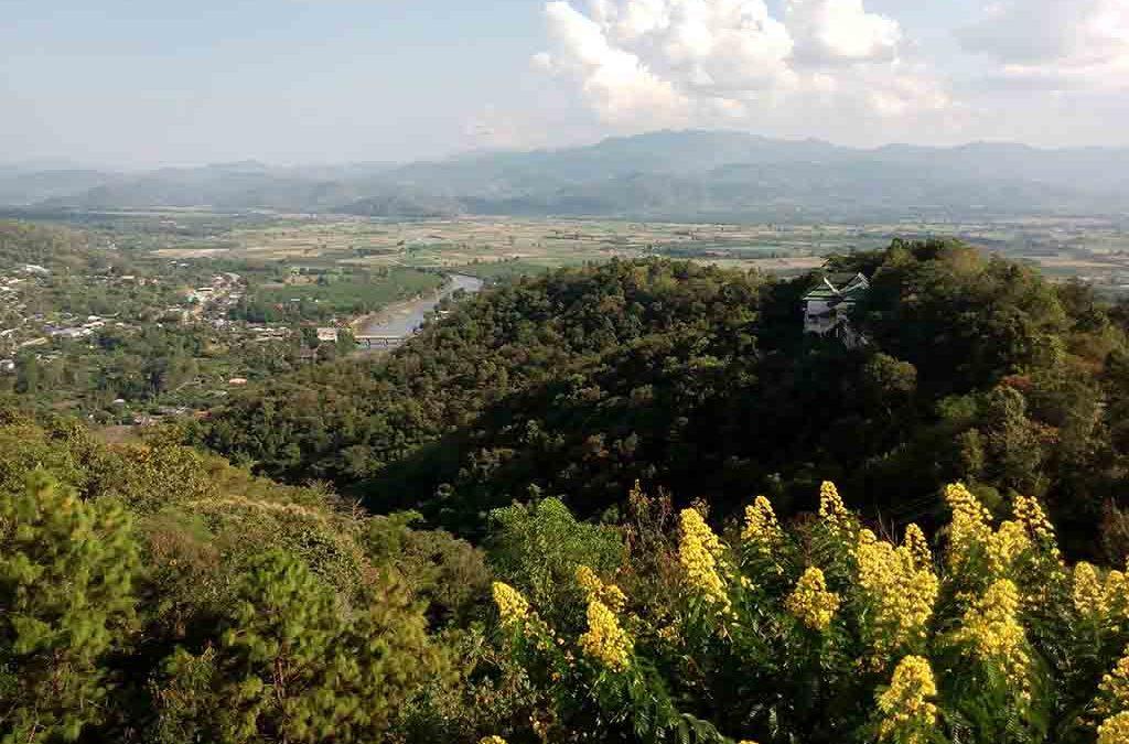 chiang mai, mae ai - wat thaton viewpoint