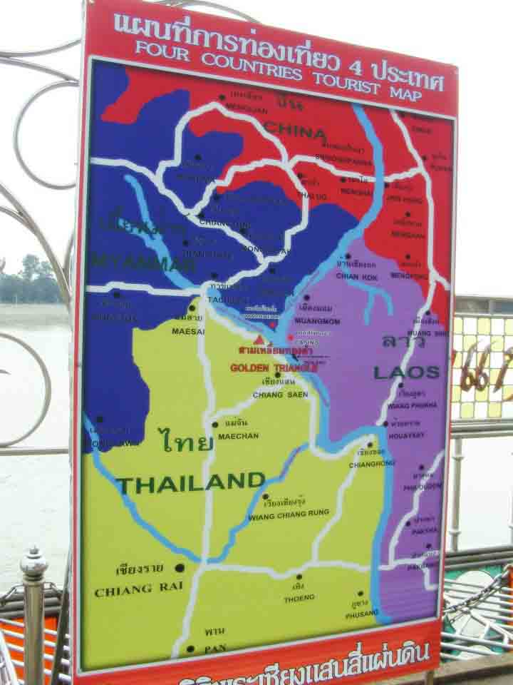 chiang rai - golden triangle tourist map