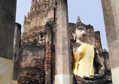 Si Satchanalai, historical park - khmer temple with buddha
