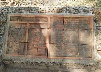 Si Satchanalai, historical park- wat suan kaeo uttayan yai stone sign