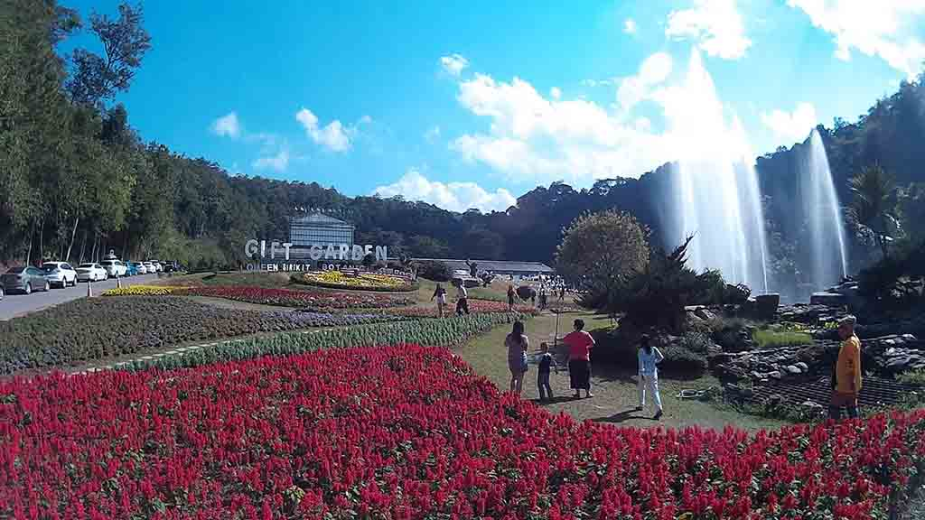 chiang mai, queen sirikit botanic garden - garden panorama