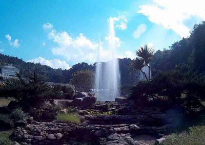 chiang mai, queen sirikit botanic garden - garden water fountain panorama