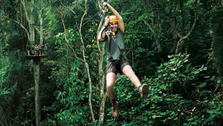 Activities in Thailand - Zip Lining Adventure