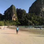 Railay Beach West - Longtail boats to Ao Nang