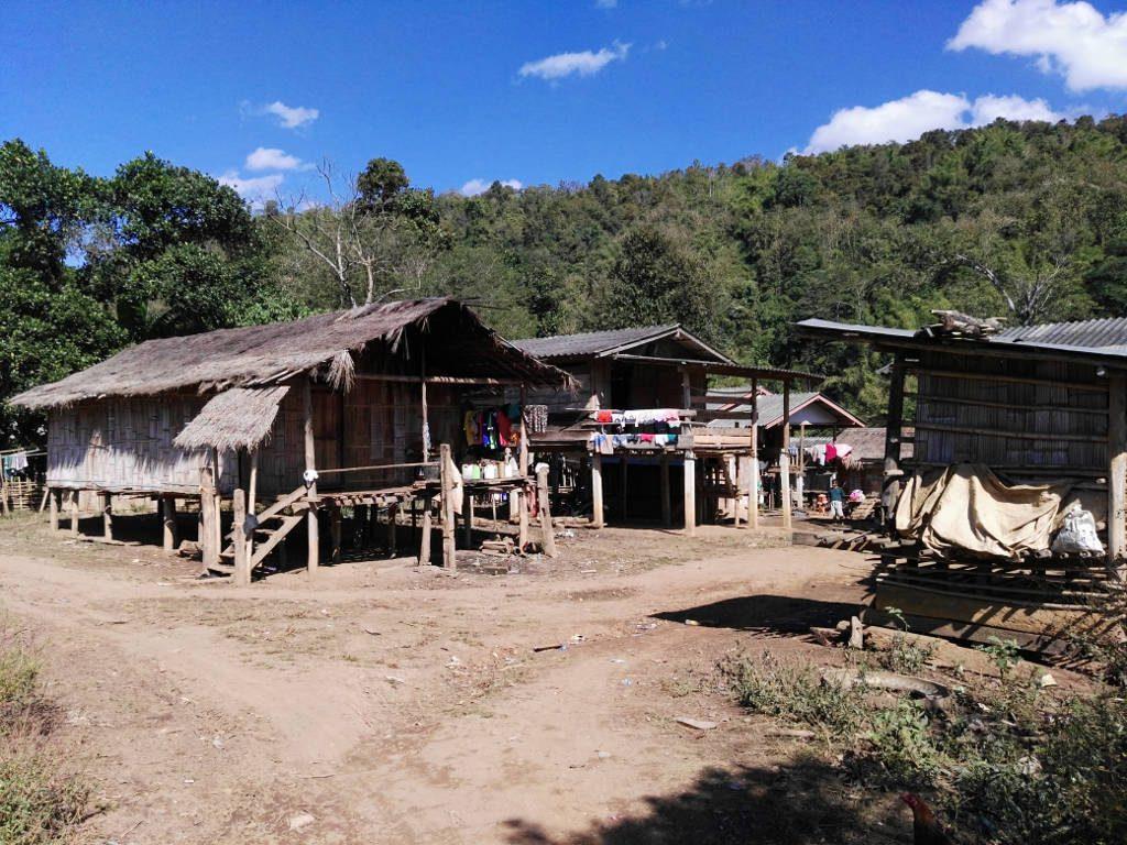 chiang mai, Mae Kok river - Lahu Village