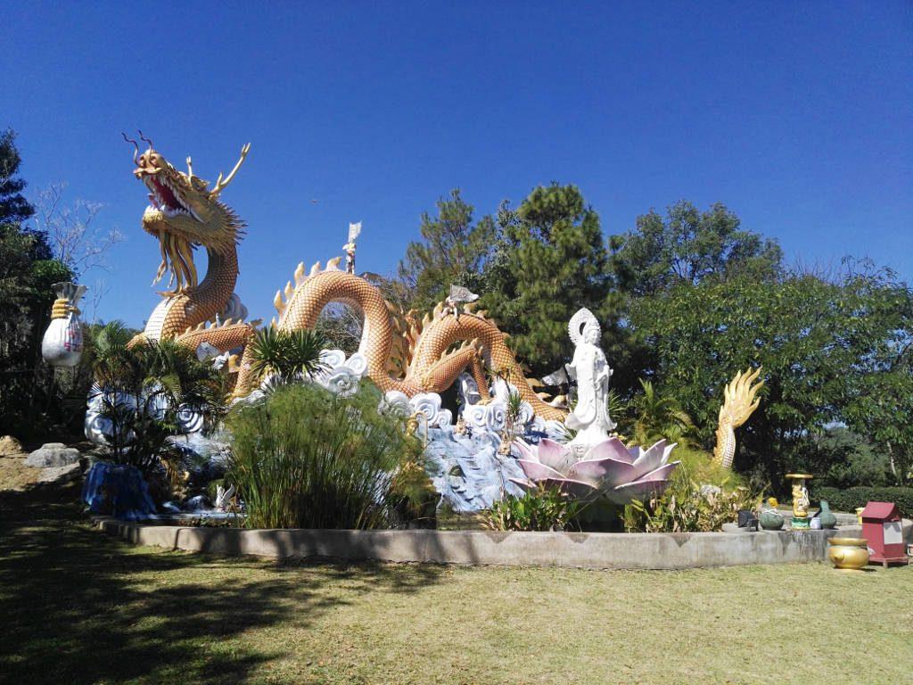 chiang mai, Mae Kok river - Dragon at viewpoint