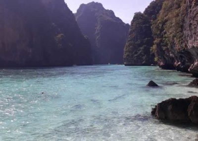 The Pileh Lagoon located in Phi Phi Leh Island