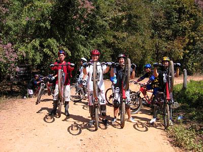 Chiang Mai Bike Tours - Forest Trip farm road
