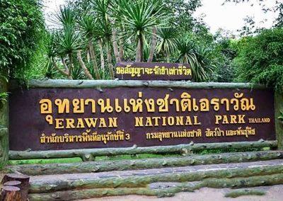 Erawan national park Sign