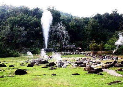 Hot Spring at Doi Pha Hom Pok National Park