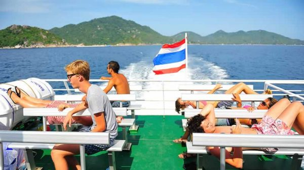 Krabi to Koh Phangan Transfers - Ferry Sundeck