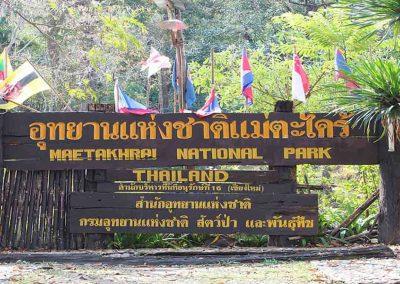Mae Takhrai National Park Sign