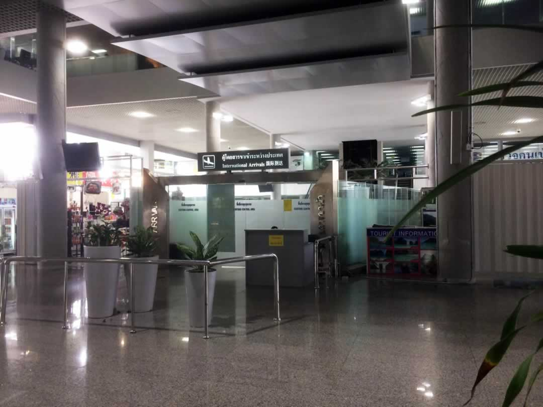 Krabi Airport - Internatioinal Arrivals meeting point
