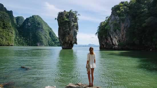 L'île James Bond dans la baie de Phang Nga, Thailande