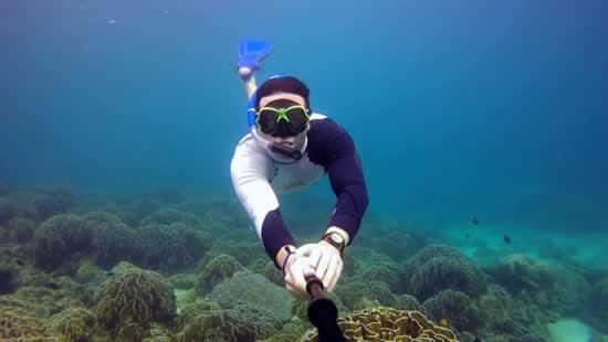 Plongée avec masque et tuba aux îles Similans, Thaïlande